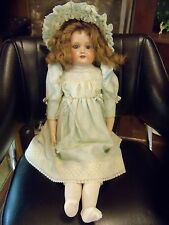 ANTIQUE ARMAND MARSEILLE 370 DEP DOLL LEATHER BODY 24""