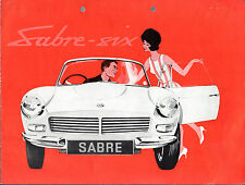 Reliant Sabre Six 1962-63 UK Market Sales Brochure Roadster Hardtop Gran Turismo