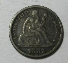 1887 Seated Liberty Dime (#717V)
