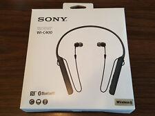 Sony WI-C400/B Wireless Bluetooth Neckband Headphones w/Mic Black #10 NEW