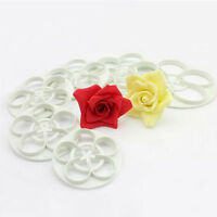 Cake Decor Rose Flower DIY Mold Cookie Gum Paste Fondant Sugarcraft Cutter Tool