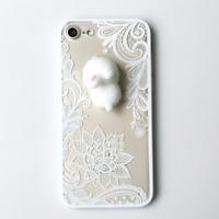 Etui Housse Coque Squishy 3D Lapin Dentelle Case Pour iPhone 8 7 6/6S Plus