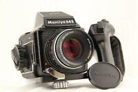 【EXC+5】 MAMIYA M645 Medium Format + SEKOR C 80mm f/2.8 Lens + Grip from JAPAN