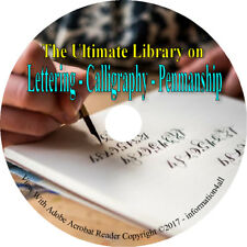 142 Books DVD Lettering Calligraphy Penmanship Writing Freehand Handwriting