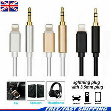 Lightning to 3.5mm Jack  Audio AUX Lead Cable for iPhone 7 8 X XS 11 - UK POST