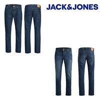 Jack&Jones Mike Original Mens Regular Fit Jeans Blue Denim Cotton Pants 5 Pockt