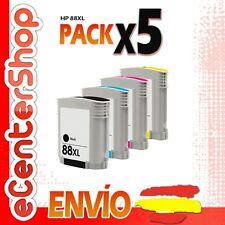 5 Cartuchos de Tinta NON-OEM HP 88XL - Officejet Pro K8600 DN