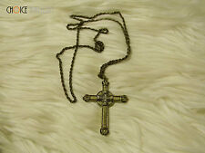 Brass Necklace With Fashion Cross Pendant