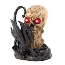 LIGHTED SKULL & DRAGON Halloween Decoration Prop Figurine Sculpture Statue
