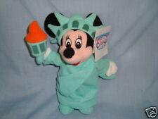 "Disney Store Exclusive Plush Liberty Minnie Bean Bag 9"" W/Tags"