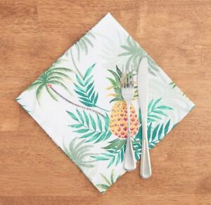 Tommy Bahama Set of 4 Napkins Paraguay Pineapple Beach Summer House Tropical