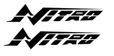 """PAIR OF 5""""X28"""" NITRO BOAT HULL DECALS. MARINE GRADE. YOUR COLOR CHOICE"""