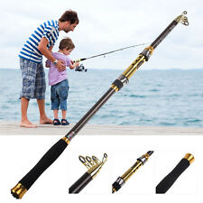 New Telescopic Fishing Rod Spinning Fish Hand Tackle Sea Carbon Fiber Pole