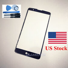 black for LG Stylo 2 plus Stylo2 Plus MS550 Front Outer Lens Glass screen tools