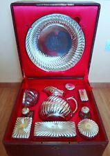 CHRISTOFLE Antique Silver Plated Bowl Jug Pitcher France Puiforcat Gorham Vanity