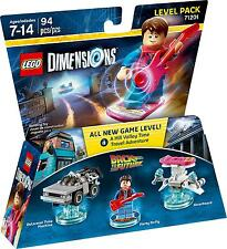 LEGO DIMENSIONS 71201 LEVEL PACK return a futuro Marty McFly buildings new