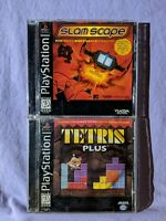 PlayStation 1 Video Games Lot (Slam Scape / Tetris Plus) Complete Flawed Manual