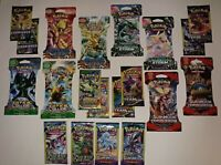 Lot of 20 Assorted Authentic Pokemon Card Booster Packs - Carded / Sleeved NEW