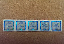 Intel Genuine Core i7 Inside Sticker Badge 6th Generation 18mmx18mm  (Set of 5)
