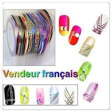 Lot De 30 Rubans Adhesif Ongle Bijou Deco Manucure Nail Art Striping Tape