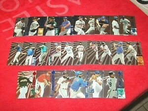 1997 SELECT BASEBALL 26 DIFFERENT SELECT COMPANY ETCHED FOIL CARDS (18-21)
