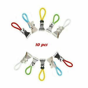 TOWEL HANGING 10 Pieces Clips Hooks Dish Cloth Tea Hand HANGERS Kitchen Cafe