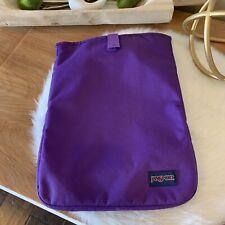 "JanSport 15"" Laptop Notebook Chromebook Tablet Sleeve/Pouch Purple-GUC"