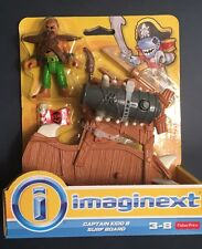 Imaginext Pirate Captain Kidd & Surf Board Fisher Price New