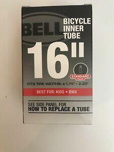 """Bell Bike Inner Tube - 16"""" Fits Tyre Widths x 1.75"""" - 2.25"""" - Standard Valve"""