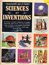 SCIENCES  INVENTIONS ENCYCLOPEDIE PAR LE TIMBRE ALBUM 48 vignettes complet 1959