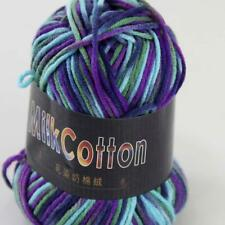 Sale New 1 ball x50g Soft Cotton Baby Yarn Handdyed Wool Socks Scarf Knitting 22