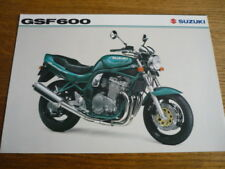 SUZUKI GSF 600 MOTORBIKE BROCHURE,  POST FREE (UK)