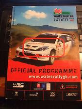 RALLY di Gran Bretagna 2003 PROGRAMMA UFFICIALE DELLA FIA WRC-lucido 146 pagine