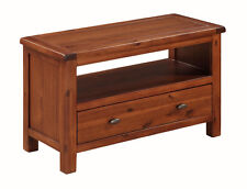 Prussia Acacia Small TV Stand / Solid Dark Wood TV Unit / Small TV Cabinet