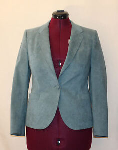 Women's Suede Suit Jacket Hovland & Swanson Light Teal