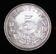 1905 MEXICO 5 CENTAVOS SILVER COIN, UNCIRCULATED #FC200105