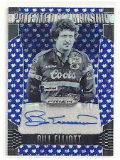 Bill Elliott 2016 Prizm AUTO Ser# 01/35 BLUE FLAG Patented Penmanship Autograph