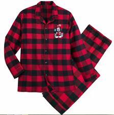 New Disney Store Men's Holiday Pajamas 2 Piece Top Pants Size S Small Buffalo