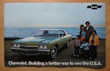 CHEVROLET IMPALA BEL AIR orig 1972 USA Mkt Large Format Showroom Poster Brochure