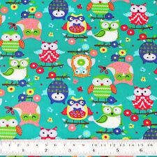 Cotton Fabric FQ Flower Tree Gingham Plaid Polka Dot Spot Zig Zag Owl Bird VK125