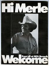 1977 Merle Haggard photo MCA Records music trade ad