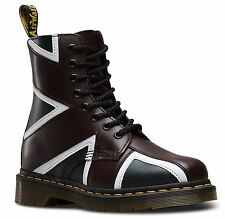 Dr Martens Pascal Unisex Brit Union Jack Oxblood Navy White Smooth Leather Boots