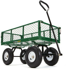 Steel Utility Yard Cart Durable Sturdy Steel Construction Removable Steel Mesh