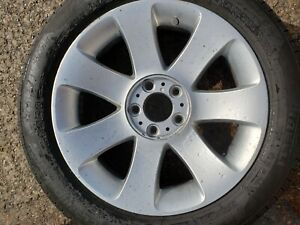 """BMW 18"""" Style 175 7 Spoke SILVER Alloy Wheel  WHIT TYRE 245/50R18 PN 6767828"""