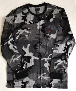 NWT!!Polo Ralph Lauren Men's Camo Waffle-Knit Thermal Pajama Shirt SZ USL/XL/XXL