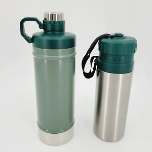 Stanley Lot of 2 Classic Vacuum 21oz & Utility Stainless Steel 24oz Water Bottle