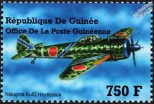 WWII Nakajima Ki-43 Hayabusa Japanese Army Aircraft Stamp (2002 Guinea)