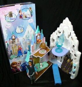 DISNEY FROZEN CASTLE & ICE PALACE PLAYSET KRISTOFF DOLL, OLAF ACCESORIES BOX