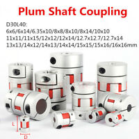 CNC Flexible Plum Coupling 12.7x12.7mm Jaw Spider Shaft Coupler D30 L40 12000rpm