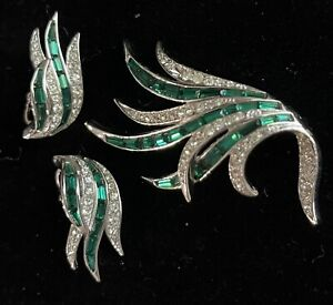 Stunning Vintage Marcel Boucher Brooch and Earrings